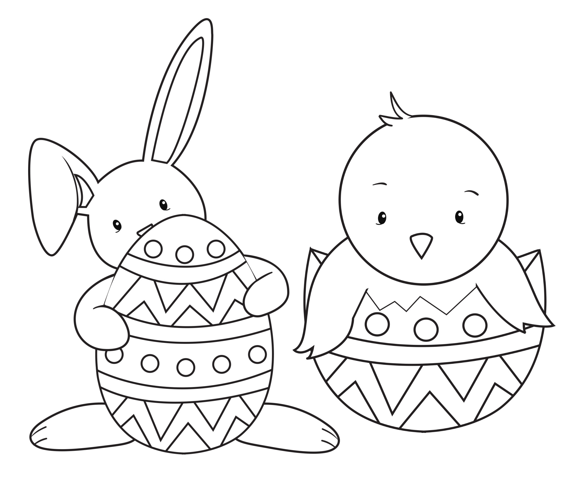 Easter Bunny Coloring Pages For Toddlers  15 Easter Colouring In Pages The Organised Housewife