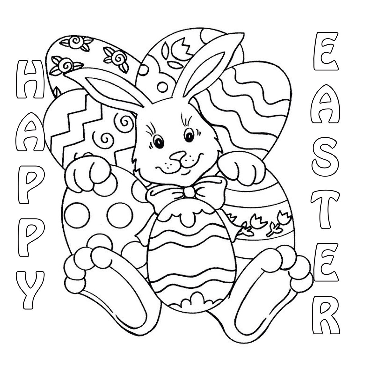 Easter Bunny Coloring Pages For Toddlers  March 2014