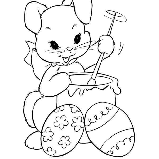 Easter Bunny Coloring Pages For Toddlers  9 Places for Free Bunny Coloring Pages