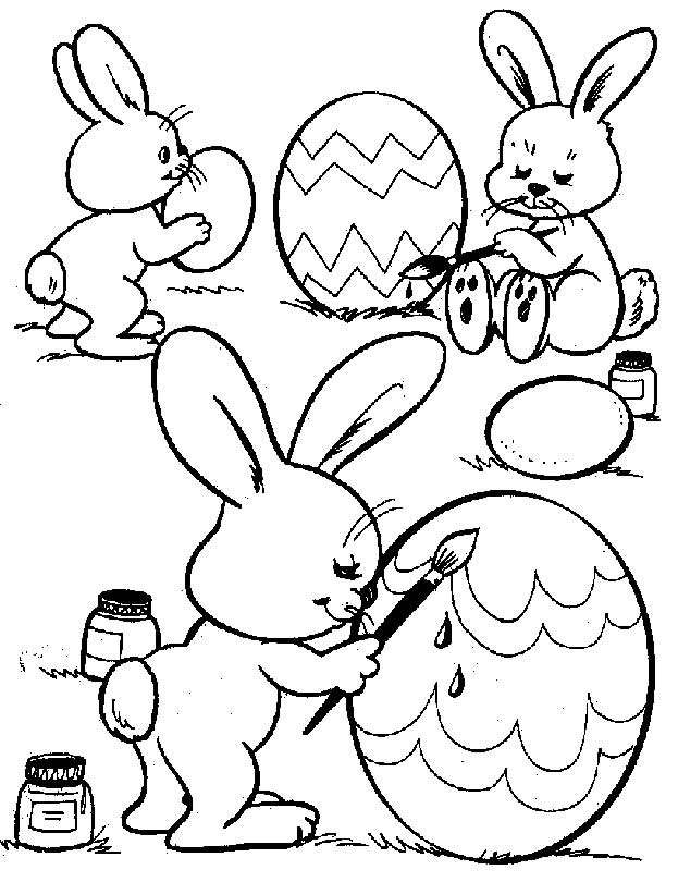 Easter Bunny Coloring Pages For Toddlers  Free Printable Easter Bunny Coloring Pages For Kids