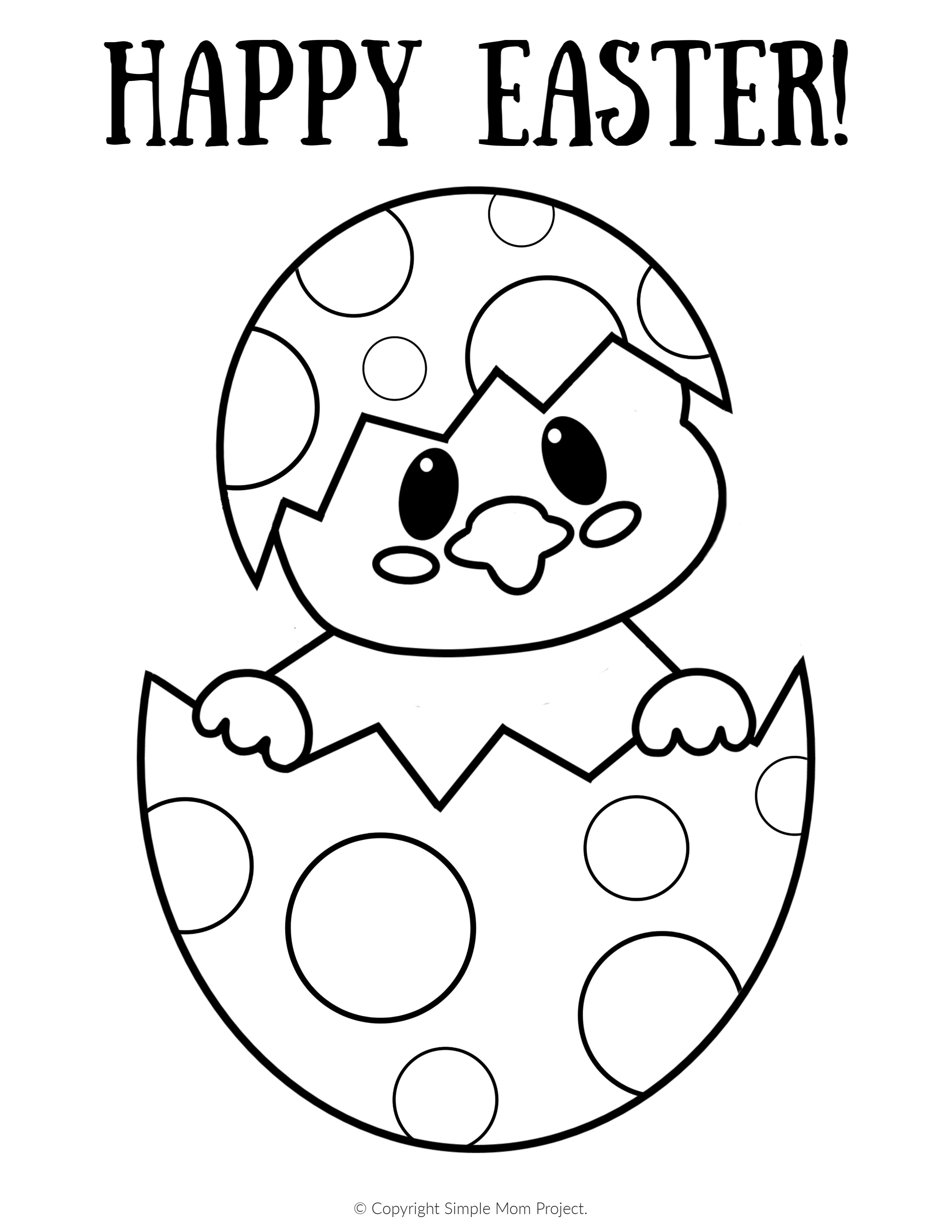 Easter Egg Coloring Pages For Toddlers  Easy Easter Egg Q tip Painting FREE Printable Template