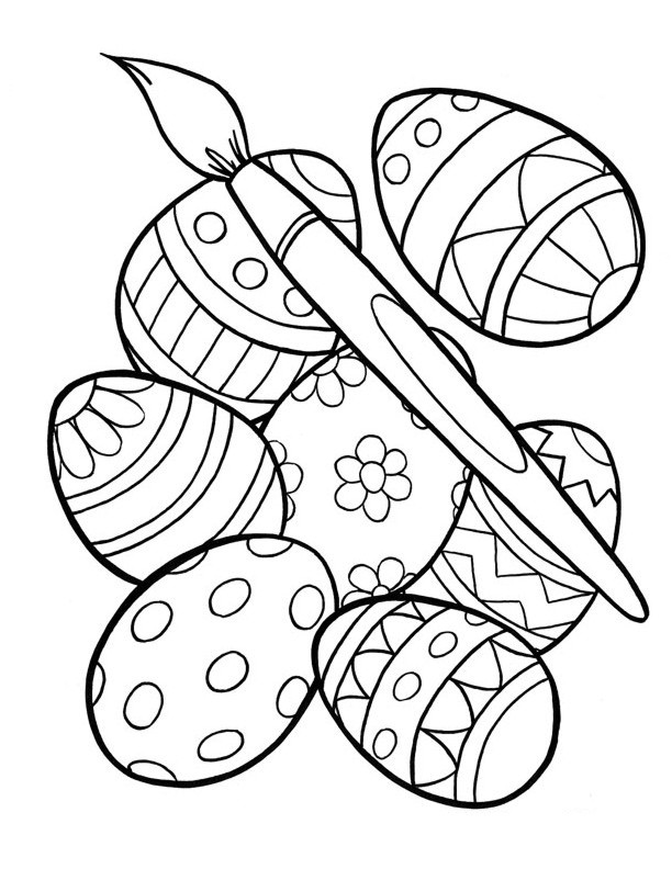 Easter Egg Coloring Pages For Toddlers  Free Printable Easter Egg Coloring Pages For Kids