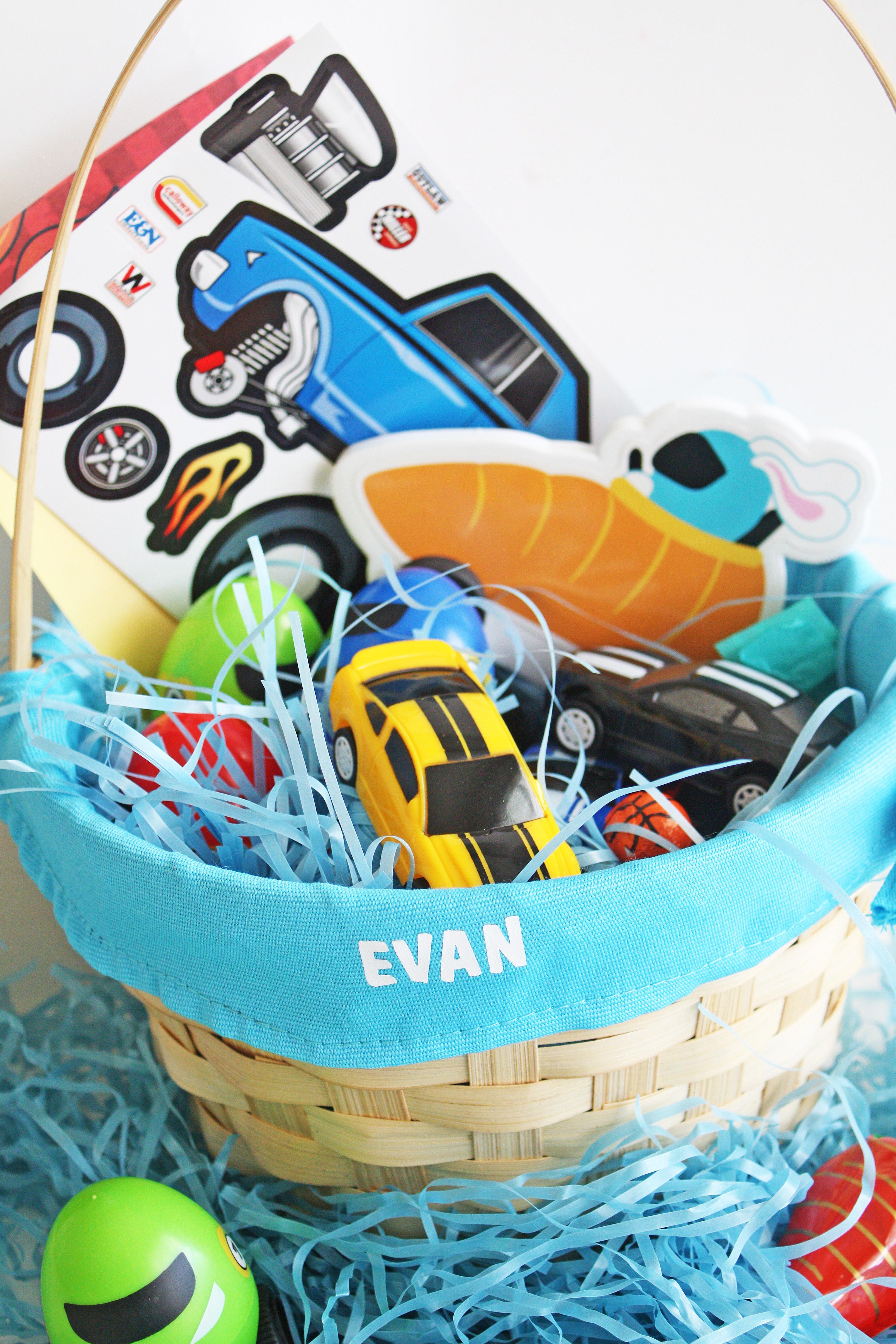 Easter Gift Ideas For Boys  Car Themed Boys Easter Basket