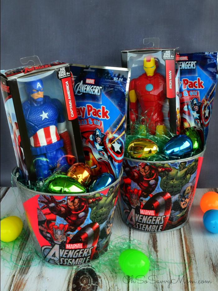 Easter Gift Ideas For Boys  Decoupage DIY Avengers Easter Basket DisneyEaster Oh So
