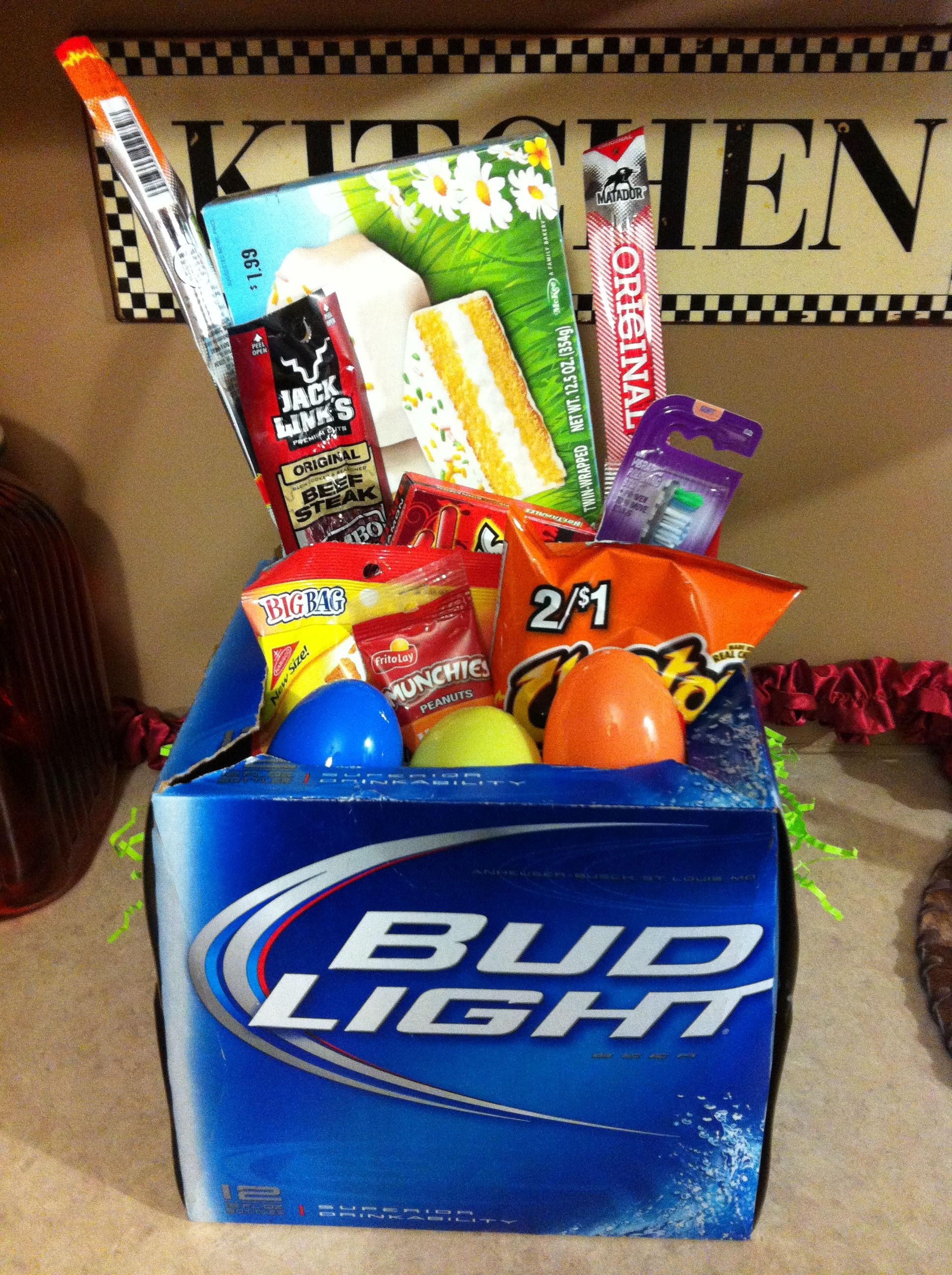 Easter Gift Ideas For Boys  DIY Easter basket for the man in your life