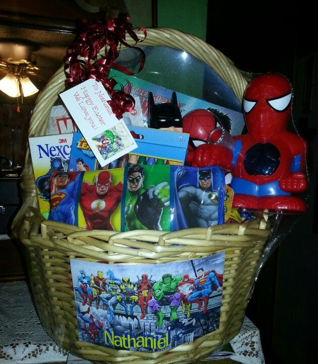 Easter Gift Ideas For Boys  SuperHero Easter Basket My projects