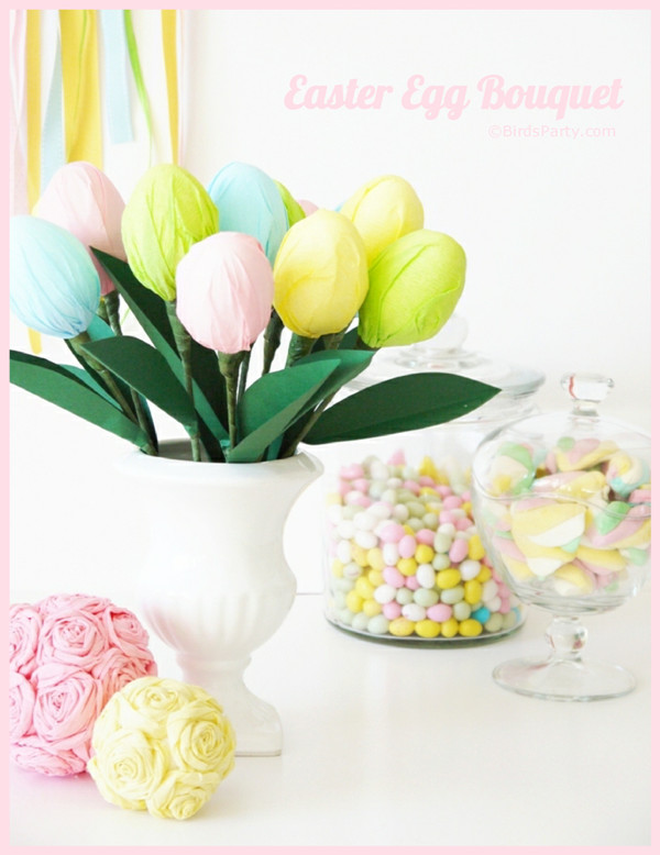 Easter Party Centerpiece Ideas  DIY Easter Egg Party Table Centerpiece Tutorial Party