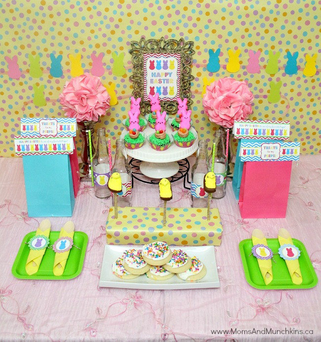 Easter Party Centerpiece Ideas  Peeps Easter Party Ideas Moms & Munchkins