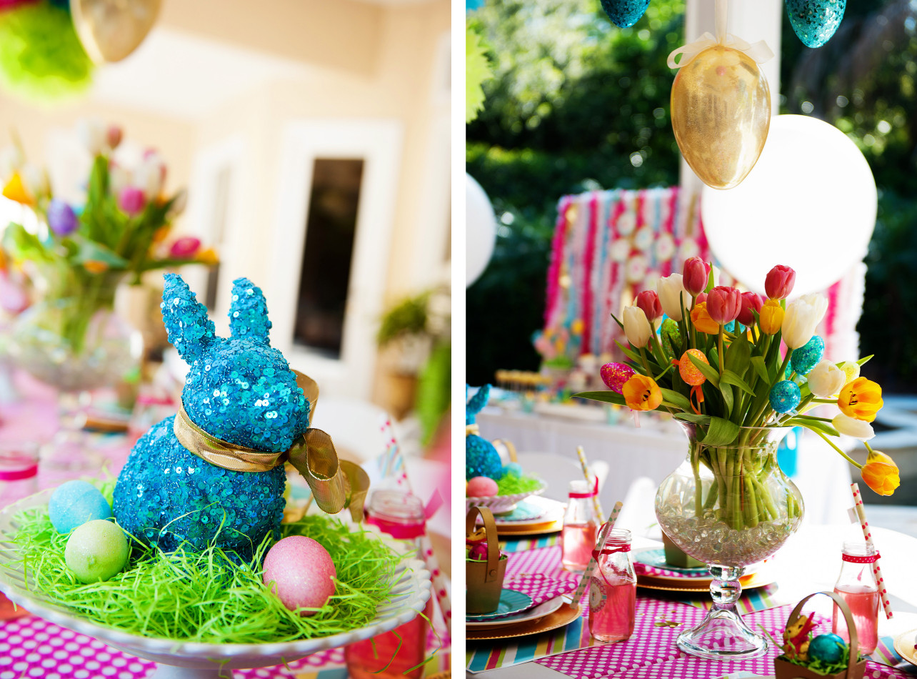 Easter Party Centerpiece Ideas  A Bright and Colorful Easter Party Anders Ruff Custom