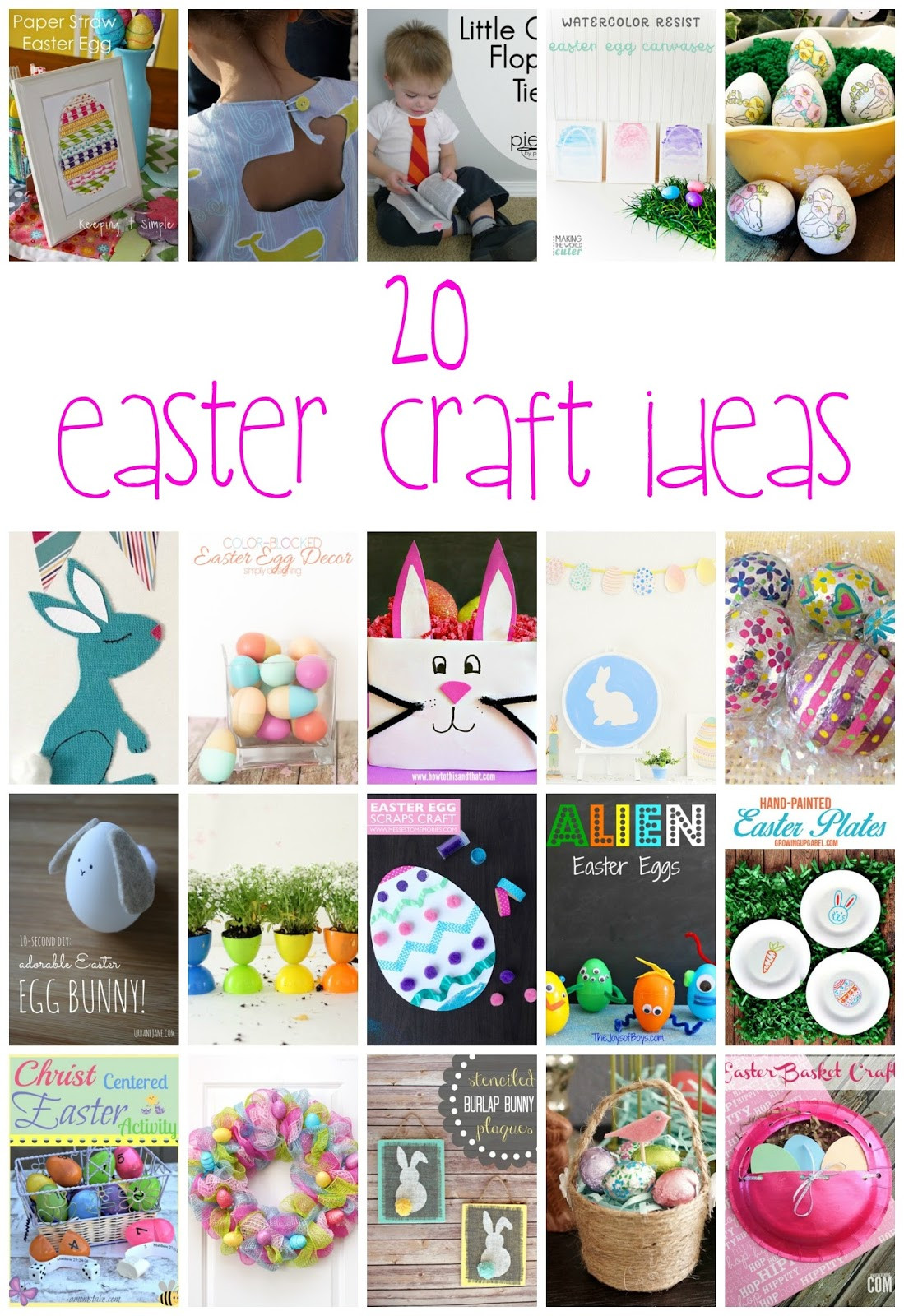 Easter Party Craft Ideas  20 Easter Craft Ideas and Block Party Rae Gun Ramblings