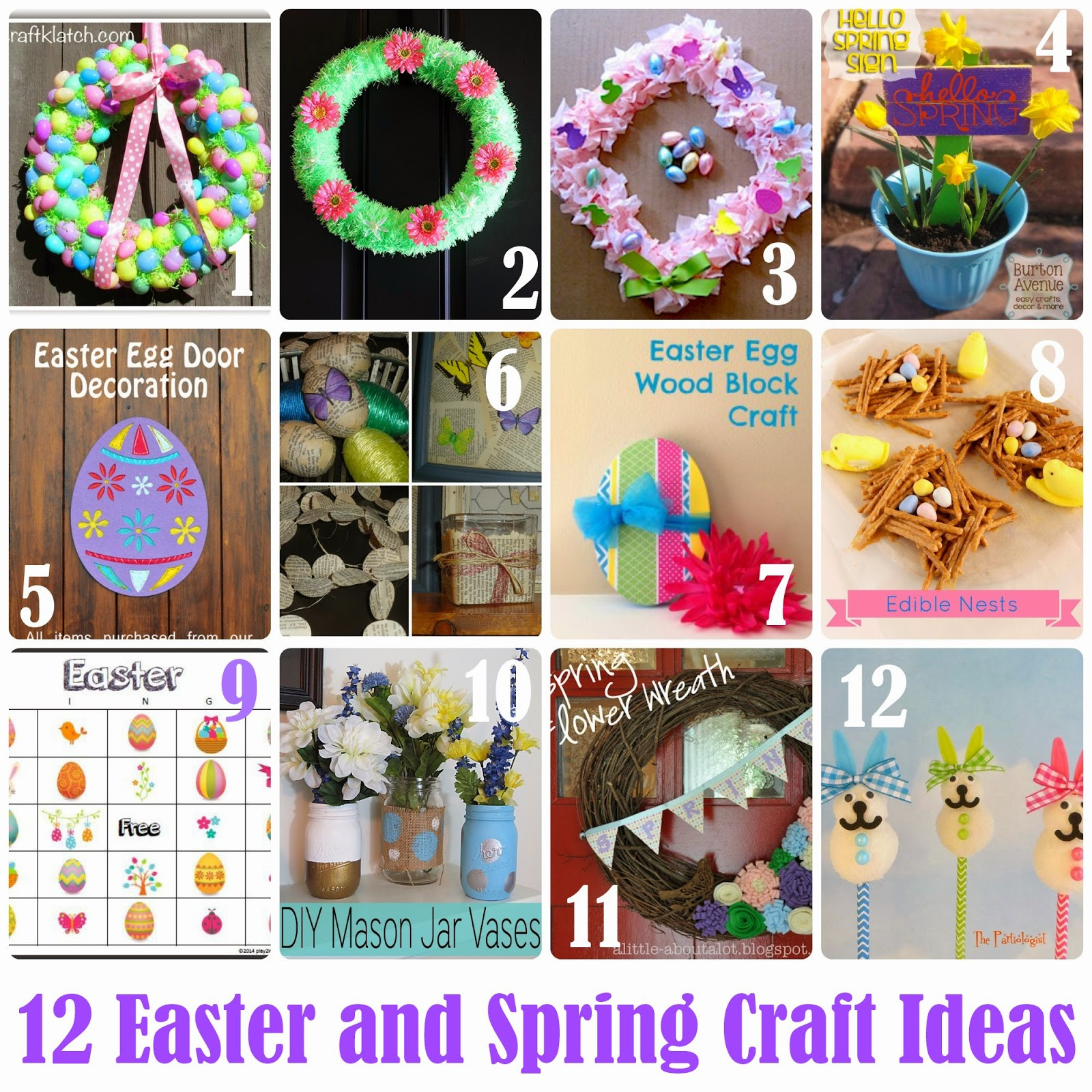 Easter Party Craft Ideas  Keeping it Simple 17 Easter and Spring Crafts MMM 217