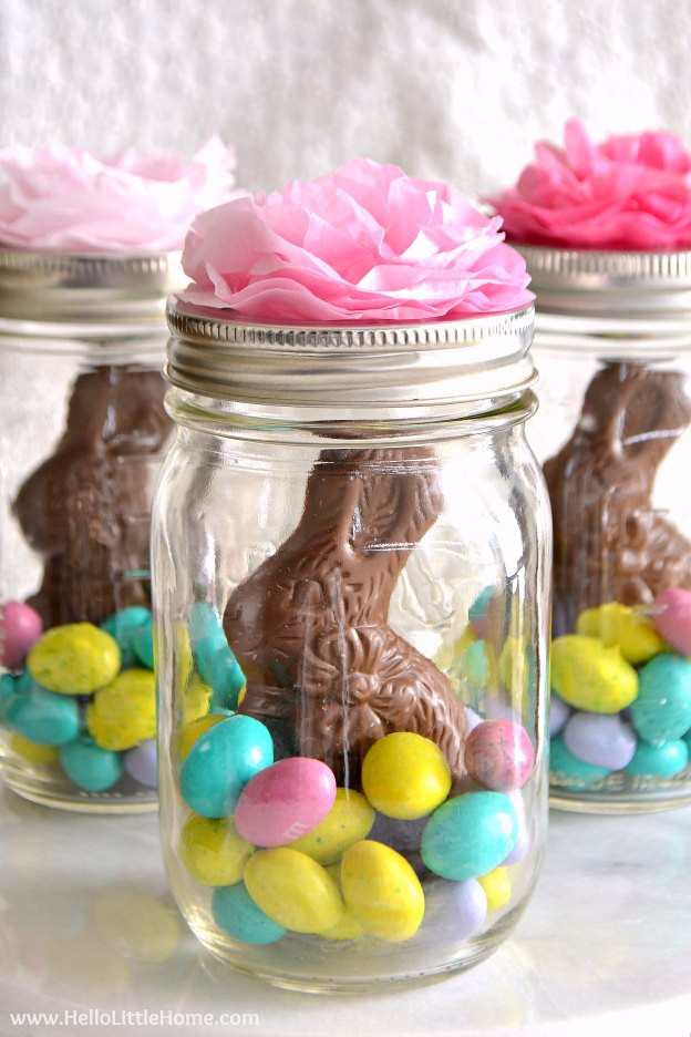 Easter Party Craft Ideas  Mason Jar Easter Baskets Cute Easy