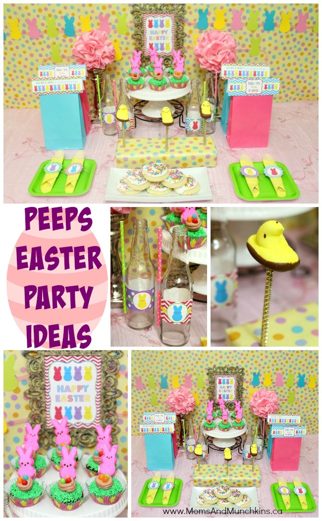 Easter Party Game Ideas Kids  Peeps Easter Party Ideas Moms & Munchkins