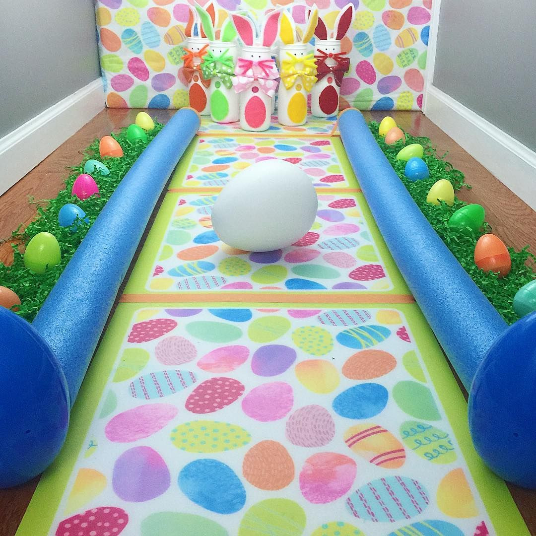 Easter Party Game Ideas Kids  Craft Project DIY Bunny Bowling Kids Easter Game made