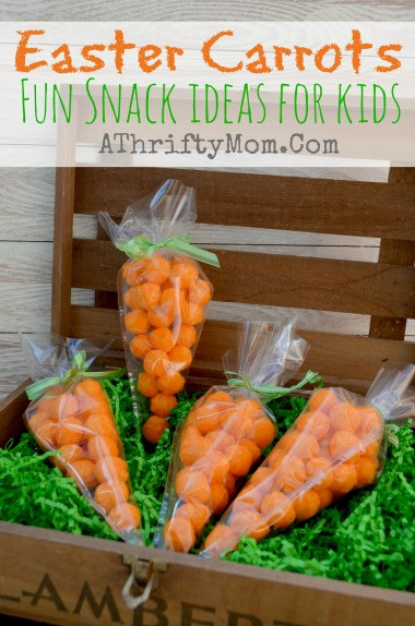 Easter Party Snack Ideas For Kids  Easter Carrots Fun Snack Idea for Kids Easter Snack A