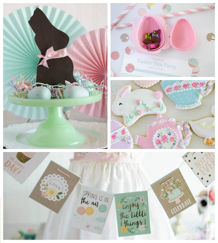 Easter Tea Party Ideas  Kara s Party Ideas Easter Tea Party