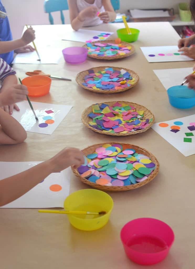 Easy Art Activities Preschoolers  Easy shapes collage art and math activity NurtureStore