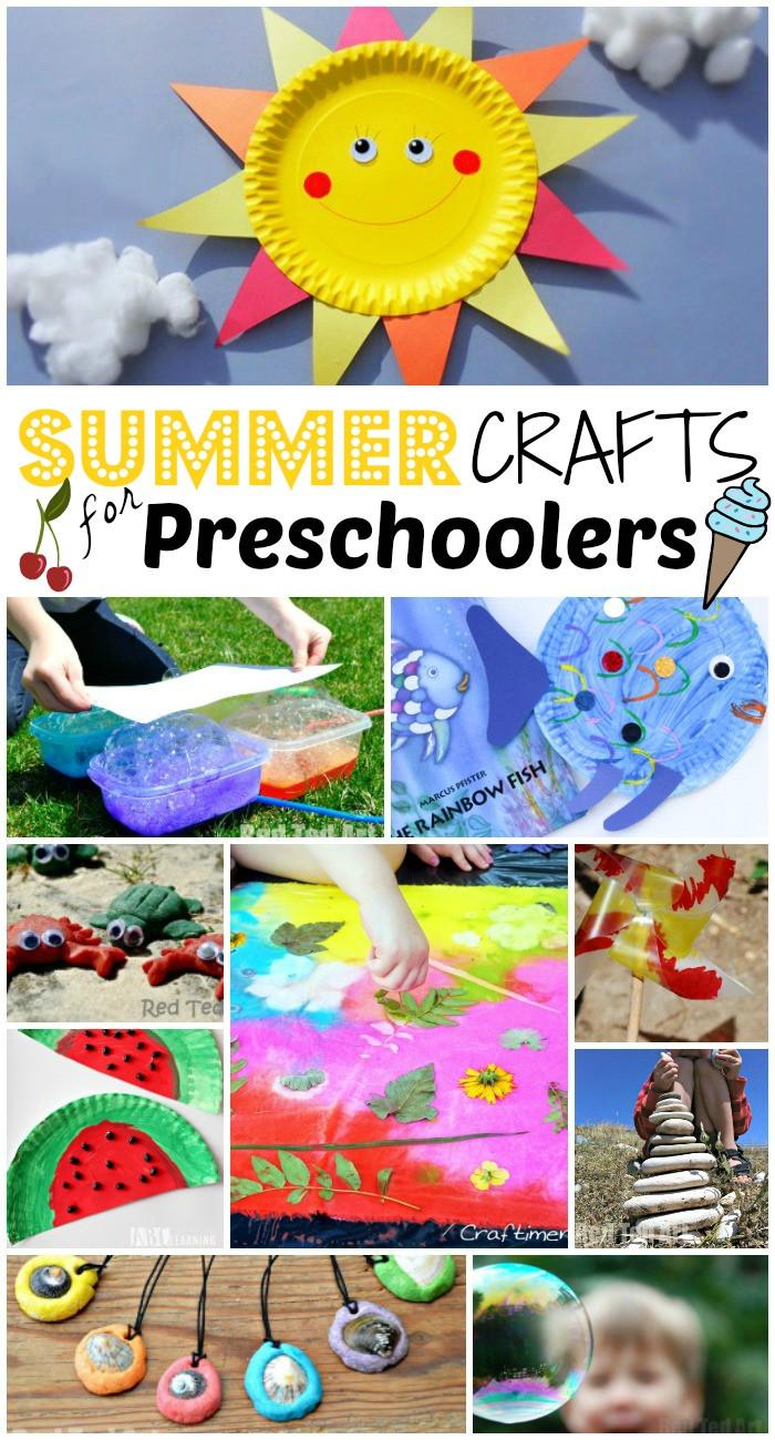 Easy Art Activities Preschoolers  47 Summer Crafts for Preschoolers to Make this Summer
