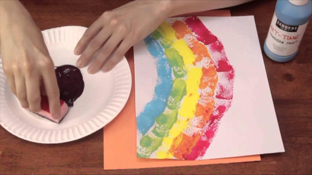 Easy Art Activities Preschoolers  Sponge Printing for Kindergarten Art Activities Crafts