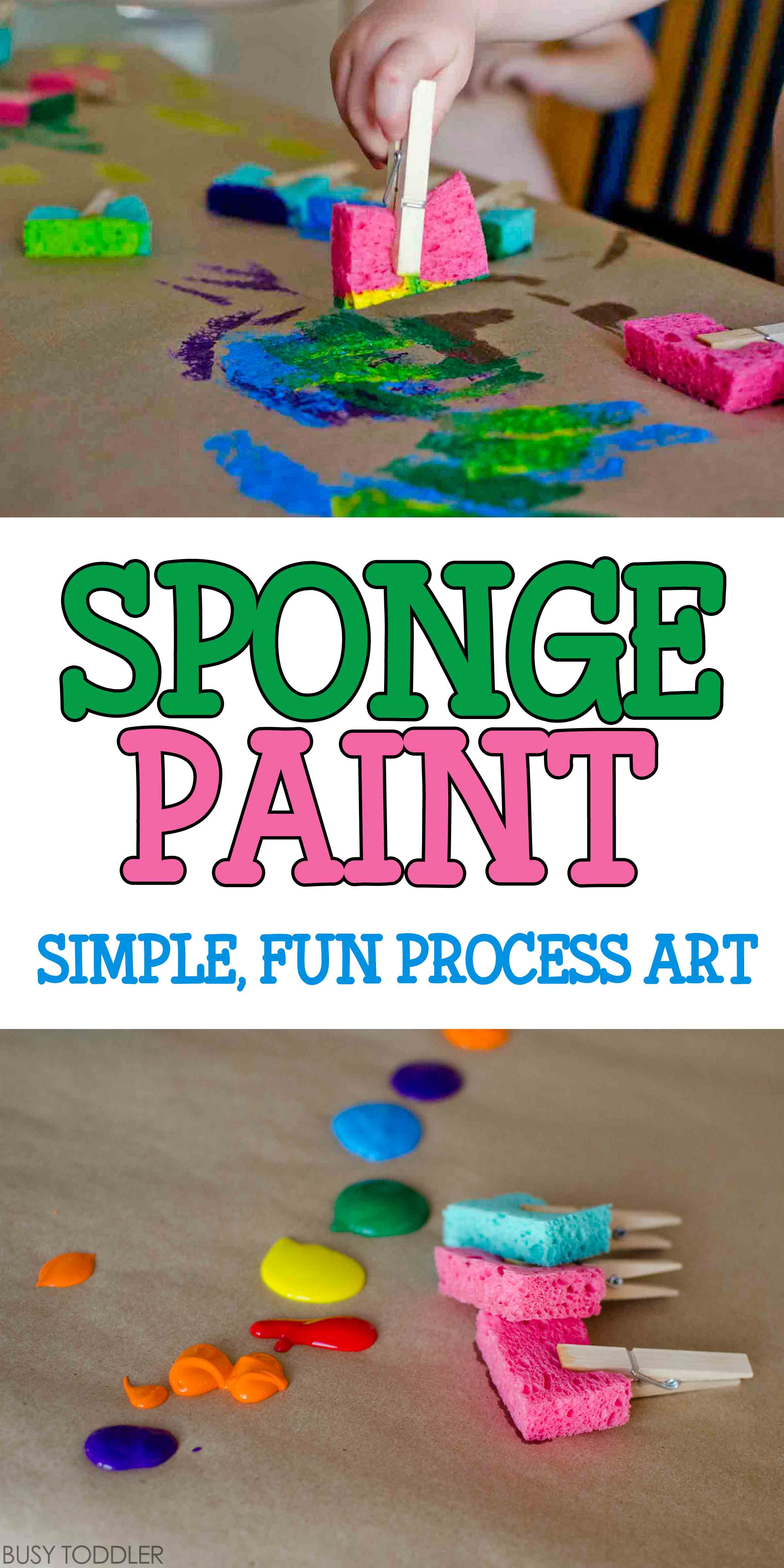 Easy Art Activities Preschoolers  Sponge Painting Process Art Busy Toddler