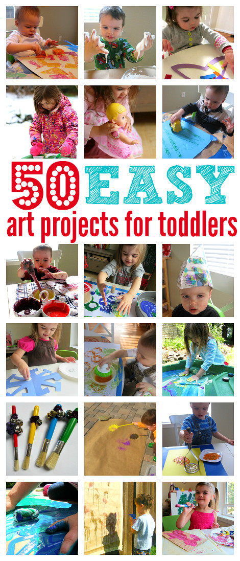 Easy Art Activities Preschoolers  50 Easy Art Projects For Toddlers No Time For Flash Cards