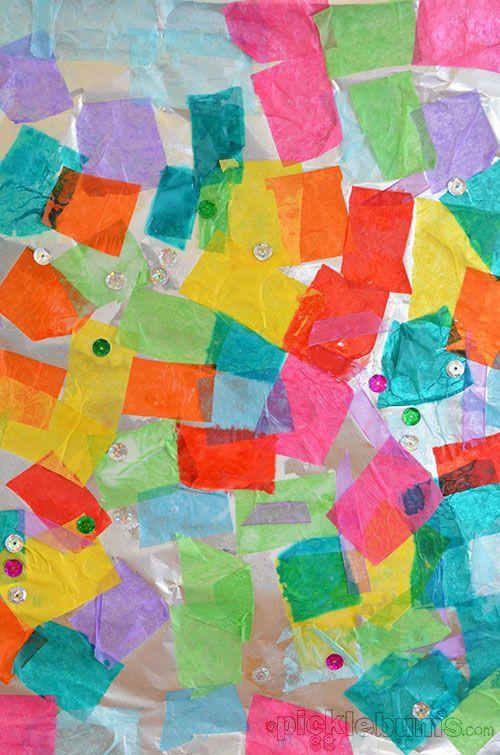 Easy Art Activities Preschoolers  Foil Collage Art For Kids