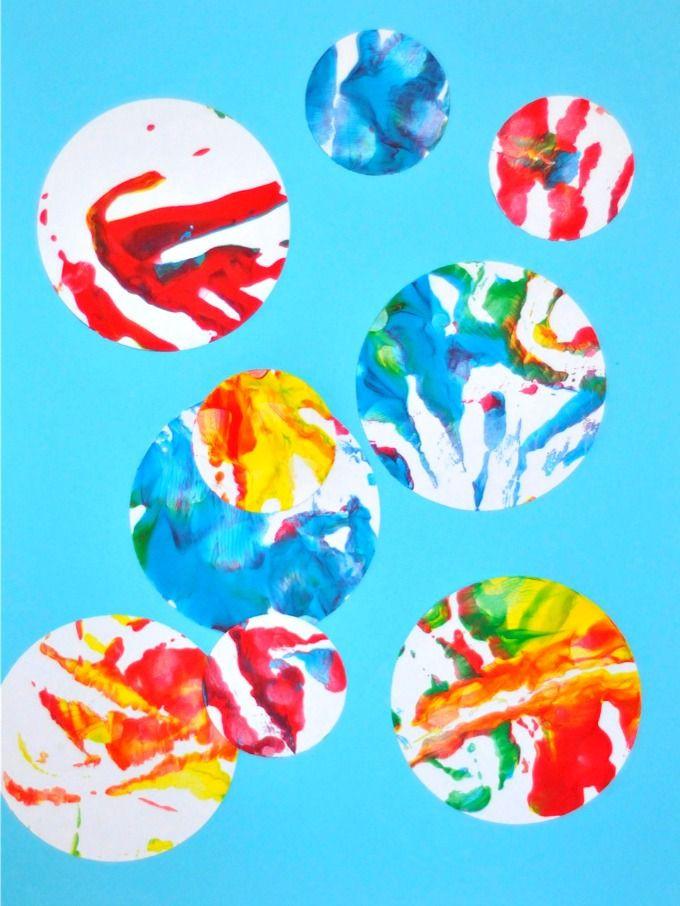 Easy Art Activities Preschoolers  237 best All things PAINT tempera finger acrylic water