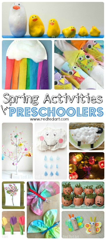 Easy Art Activities Preschoolers  Easy Spring Crafts for Preschoolers and Toddlers Red Ted