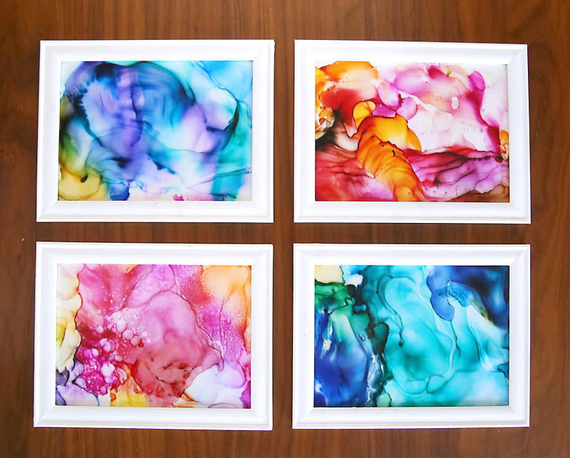 Easy Arts And Crafts Ideas For Adults  fired ink art