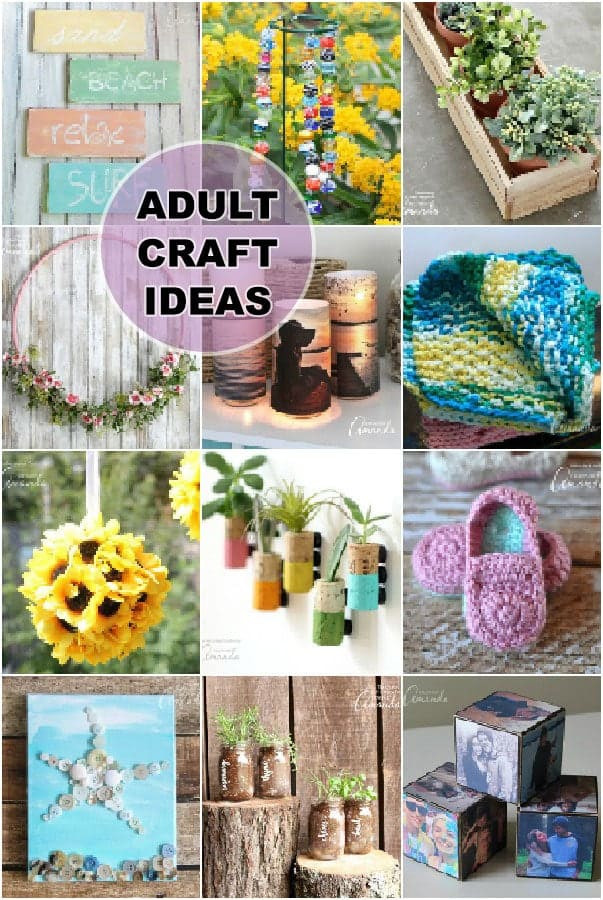 Easy Arts And Crafts Ideas For Adults  Adult Craft Ideas lots of crafts for adults