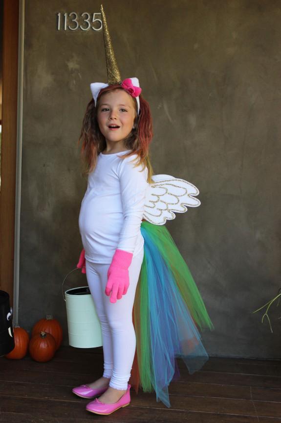 Easy DIY Costumes For Kids  Rainbow Unicorn BigDIYIdeas