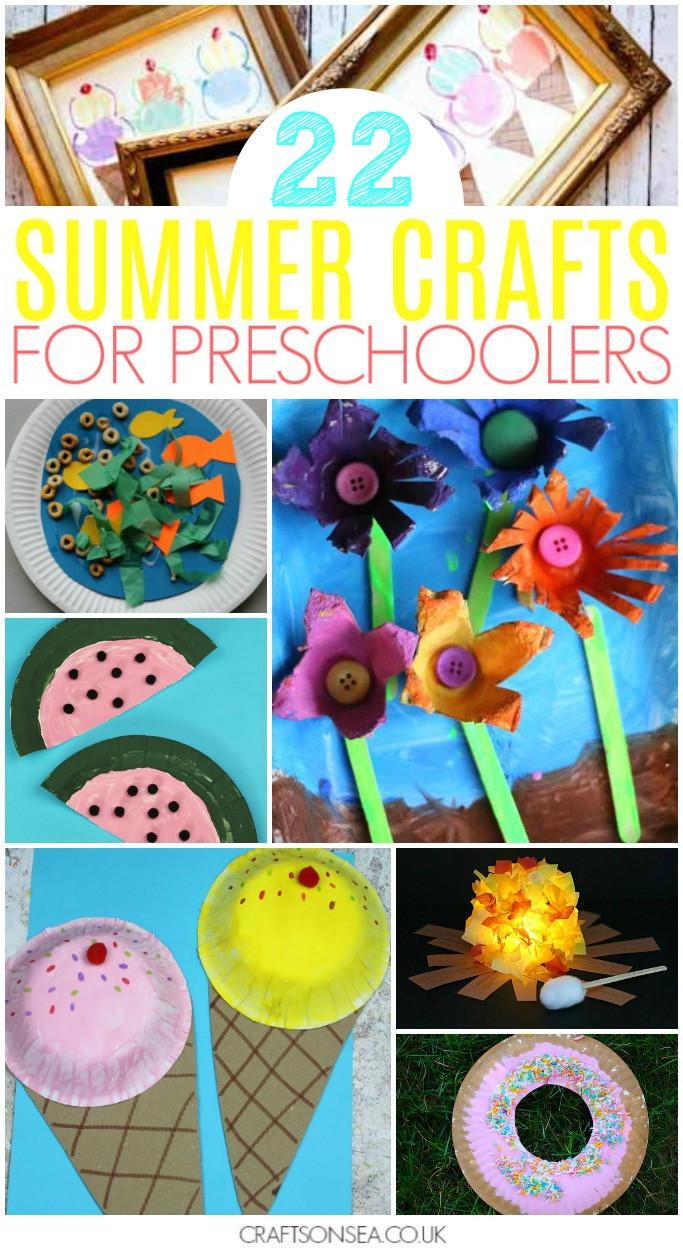Easy Summer Crafts For Preschoolers  40 Super Fun Summer Activities for Preschoolers Crafts