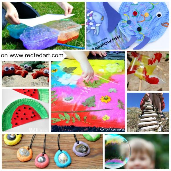Easy Summer Crafts For Preschoolers  Summer Crafts for Preschoolers Red Ted Art s Blog