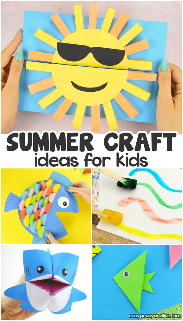 Easy Summer Crafts For Preschoolers  Summer Crafts Easy Peasy and Fun