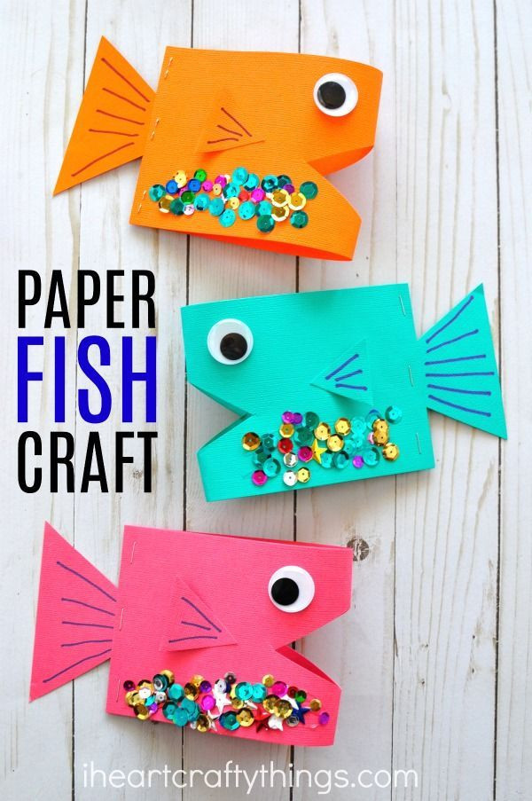 Easy Summer Crafts For Preschoolers  Super Cute Paper Fish Craft Summer Crafts