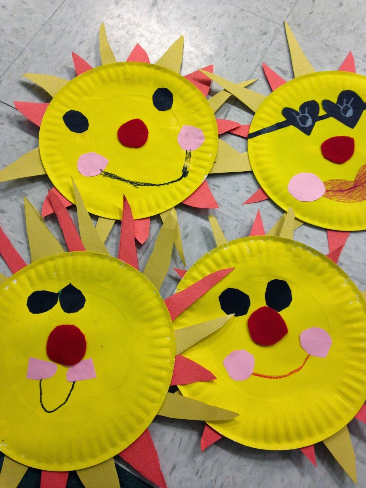 Easy Summer Crafts For Preschoolers  Easy sun craft Great for End of Year