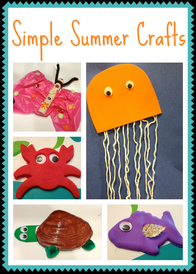 Easy Summer Crafts For Preschoolers  5 Simple Summer Crafts for Kids The Chirping Moms
