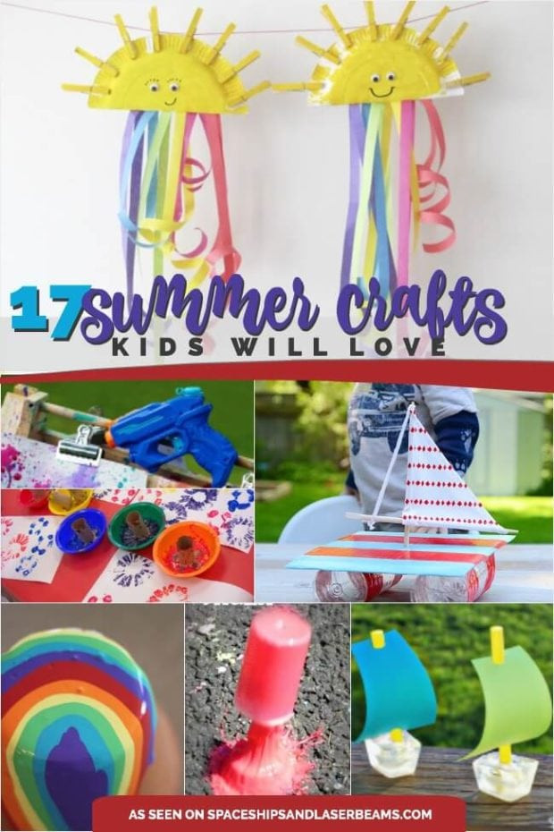 Easy Summer Crafts For Preschoolers  17 Great Summer Crafts for Kids Spaceships and Laser Beams