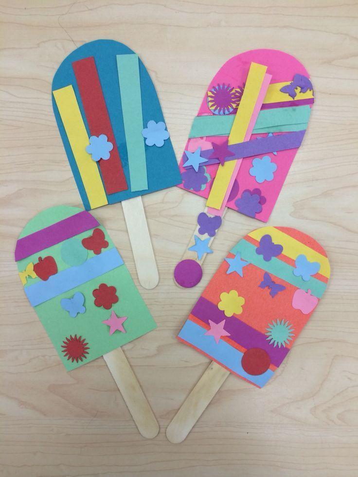 Easy Summer Crafts For Preschoolers  Popsicle Summer Art Craft for Preschoolers Kindergarten