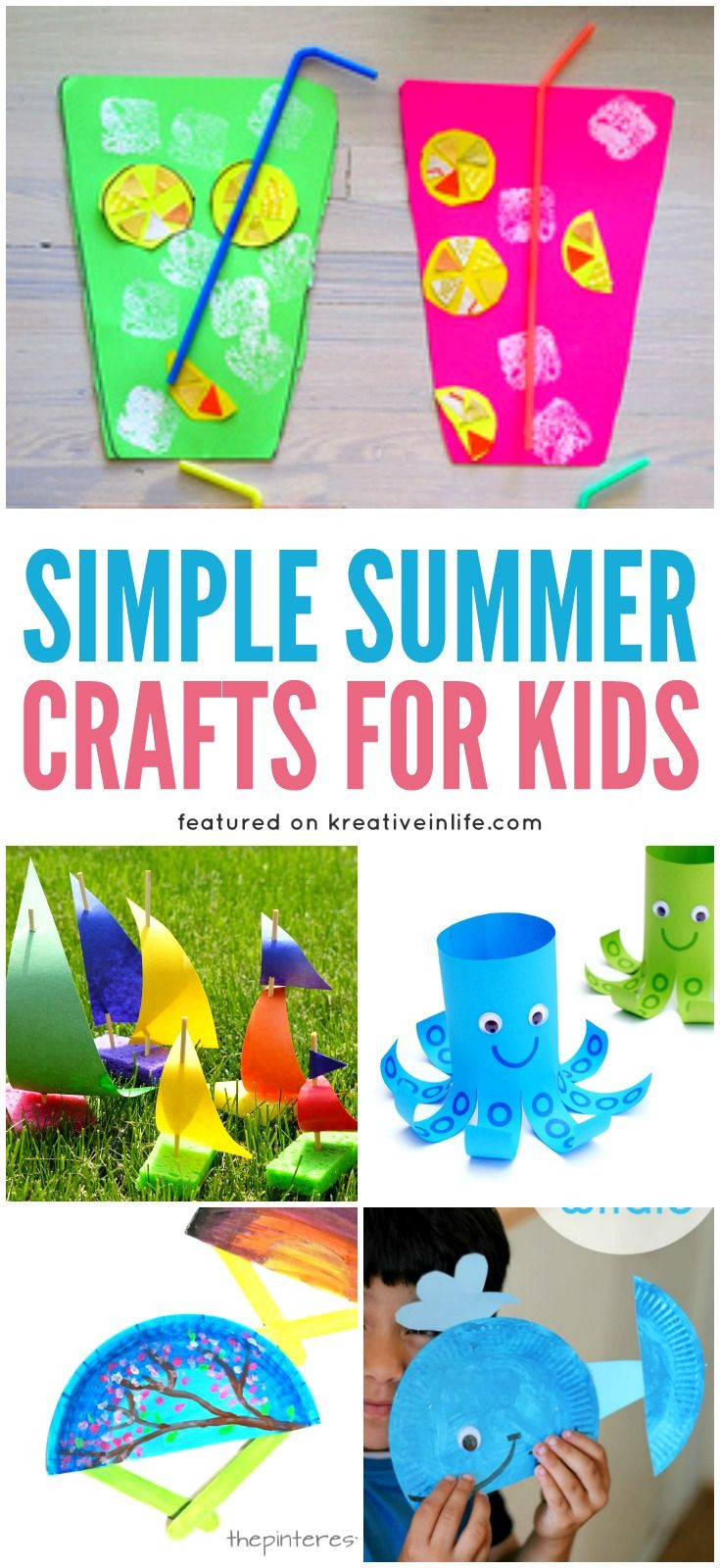 Easy Summer Crafts For Preschoolers  Best 25 Summer crafts for toddlers ideas on Pinterest