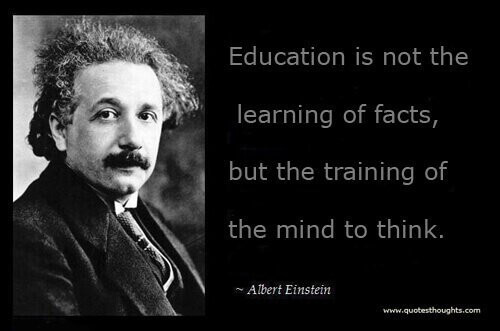 Einstein Education Quote  An Alternate Educational System for Parents Who Dare & Care