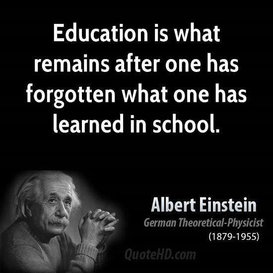 Einstein Education Quote  Albert Einstein Quotes About School QuotesGram