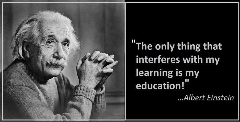 Einstein Education Quote  Albert Einstein Quotes & Sayings 1452 Quotations