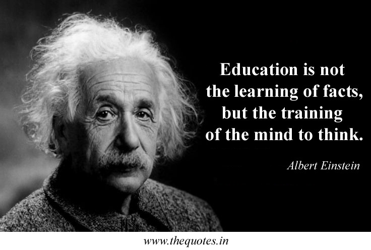 Einstein Education Quote  Dose being good at school make you smart GirlsAskGuys