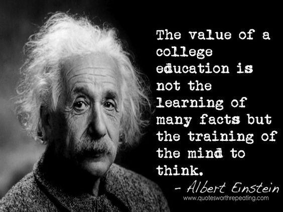 Einstein Education Quote  Albert Einstein Quote