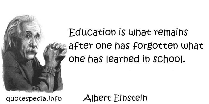 Einstein Quotes On Education  albert einstein knowledge 4714