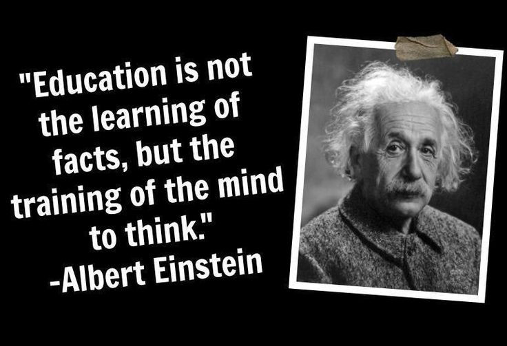 Einstein Quotes On Education  True education requires critical thinking skills