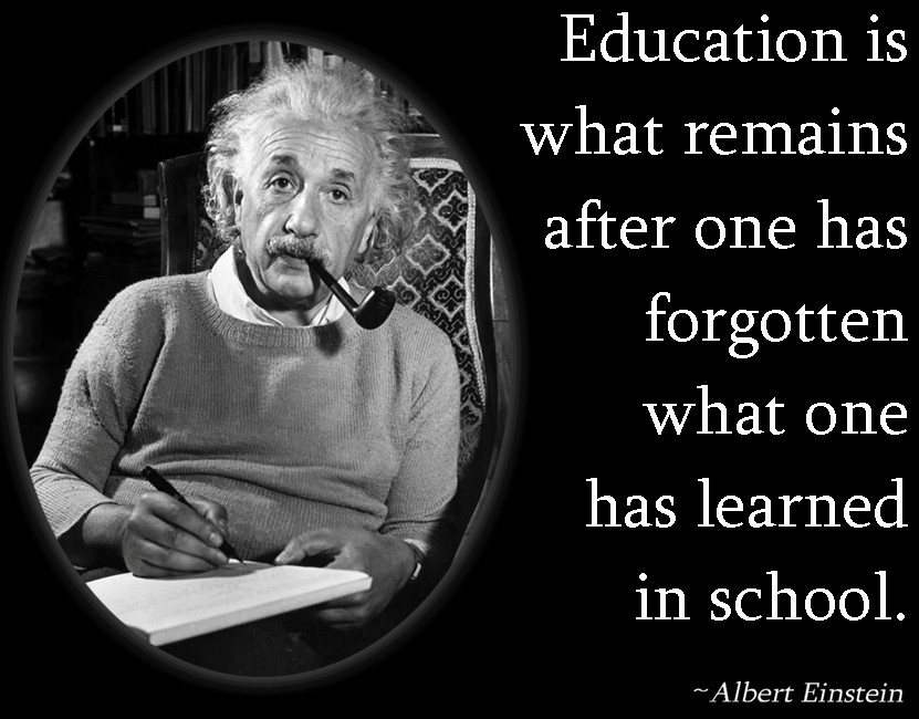 Einstein Quotes On Education  Albert Einstein Education Quotes Learning QuotesGram