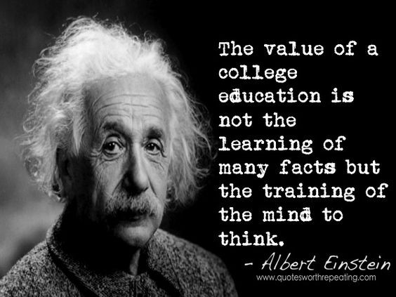 Einstein Quotes On Education  Albert Einstein Quote