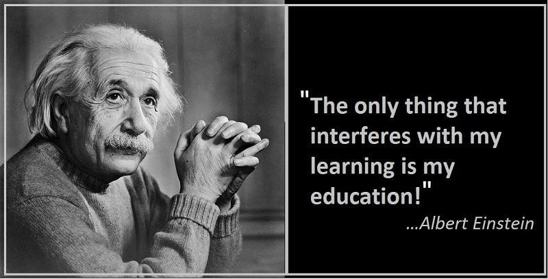 Einstein Quotes On Education  Albert Einstein Quotes & Sayings 1452 Quotations